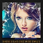707961x150 - افکت لایه باز عکس شیشه خرد شده Shattered Glass Effect Photo PSD